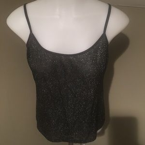 The Limited Women's Semi Sheer Blk Glittery Cami